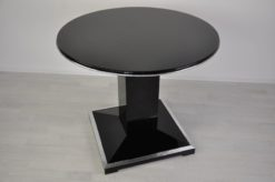 french Loungetable, Art Deco, chromeapplications,square foot, fine Details, france 1935, lacobel glass plate