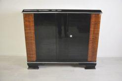 Art Deco Commode, walnutwood Ornamentations , Pianolacquer, simple bodyform