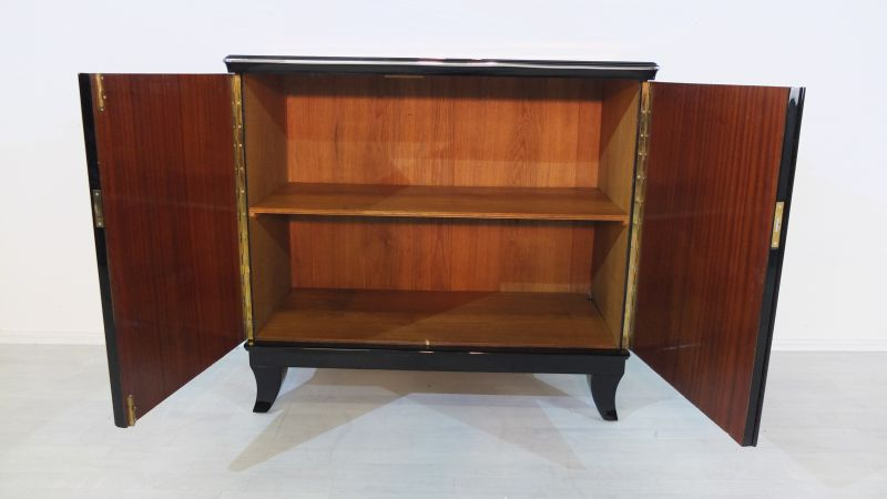 cherrywood commode from the german art deco original antique furniture. Black Bedroom Furniture Sets. Home Design Ideas