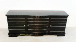 Art Deco Sideboard, highgloss pianolacquer, fine chromelines, french foot, original piece from the 1920s