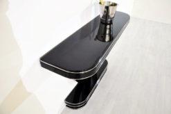 Art Deco Console, highglossblack pianolacquer, fine chromelines, great design
