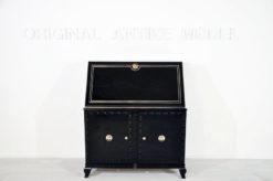 Art Deco Secretary, highgloss black paintjob, Chroemdetails, big writing plate