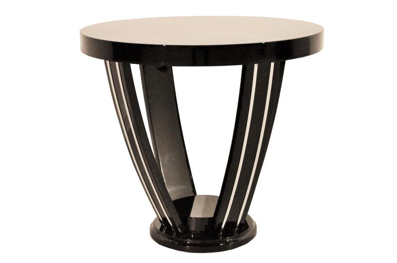 Art Deco, Antique, Original, Rare, Table, Side Table, Highgloss,