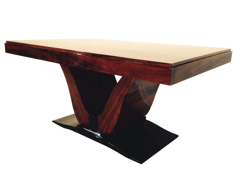 art deco palisander dining table original antique furniture. Black Bedroom Furniture Sets. Home Design Ideas