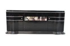 Art Deco Sideboard, Lowboard, Longboard, mirror stripe, swing doors