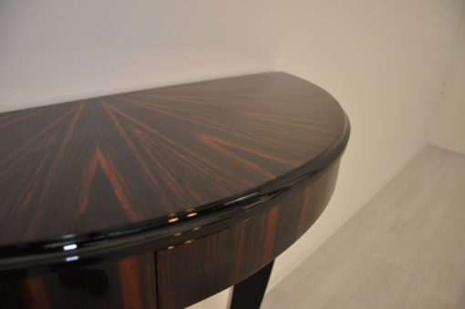Art Deco Console, Macassarwood, elegant design, highgloss paintjob