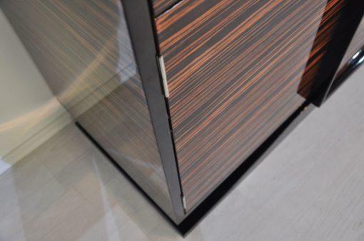Art Deco Sideboard, wonderful marcassarwood, plenty of storage space, high gloss finish
