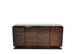 Art Deco Sideboard, wonderful marcassarwood, plenty of storage space, high gloss finish