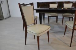 feet made of bras originals from 1925 white leather top set with 6 chairs seat height: 45cm