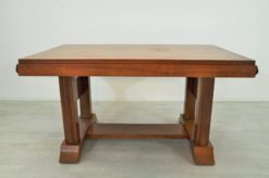 Art Deco, Walnut wood, dining table, table, veneer, extandable, square pattern, wonderful form, unique feet, great wood optics