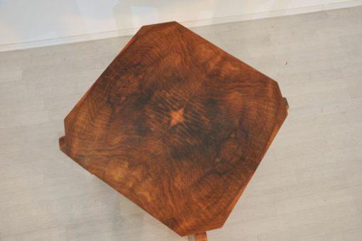 Art Deco, table, side table, living room furniture, walnut wood, france, 1930, beautiful Design, wonderful veneer, original piece