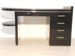 Black, piano lacquer, console, art deco, great foot, living room, design, replicas, luxury, veneer, mahogany, piano lacquer