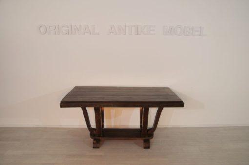Art Deco, living room table, extandable, dining table, original piece, france, dark, walnut, veneer, elegant feed, beautiful pattern