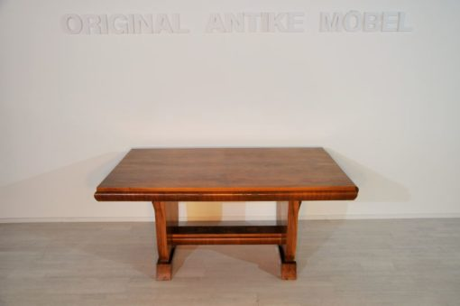 Art Deco, dining table, expandable, original furniture, france, beautiful wooden pattern, palisander wood, extravagant design, highgloss clear lacquer