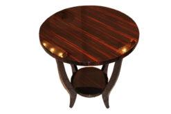 Art Deco, antique, original, rare, table, sidetable, highgloss, macassar, Unique, high quality, elegant, living room furniture, restored, french