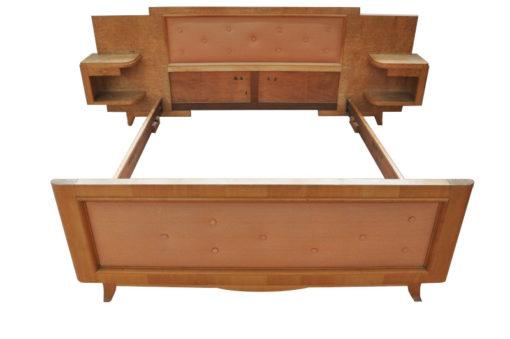 Art Deco, Bed, bed for two, antique, original, massive, rare, wood, solid wood, unique, high quality, elegant, bedroom furniture, unrestored