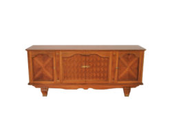 Art Deco, Sideboard, walnut wood, antique, original, massive, rare, wood, solid wood, single piece, high quality, elegant, living room, unrestored