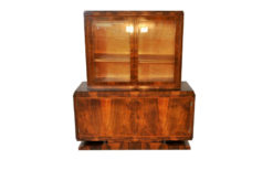 Art Deco, Vitrine, Sideboard, Palisander, antique, original, massive, rare, wood, solid wood, unique, high quality, elegant, living room furniture