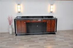 Art Deco, Sideboard, Buffet, living romm,rosewood, Palisander, veneer, big, elegant, plain, piano lacquer, Original, Vintage, Antique