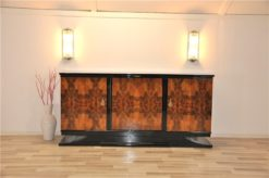 Art Deco, Sideboard, Buffet, Burlwood, france, southern france, wonderful veneer, living room, Details, handles, highgloss,