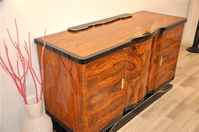 Curved Art Deco Walnut Sideboard Original Antique Furniture