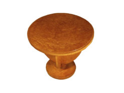 Art Deco Table, Sidetable, Maple Wood, Vintage, France, Original, Living room, Table. round, highgloss finish, polished, hand made