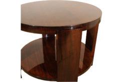 Art Deco, Sidetable, Classic, Round, Highgloss, Mahogany, Zebrano, Living room, Bedroom, beautiful grain, Era, high quality