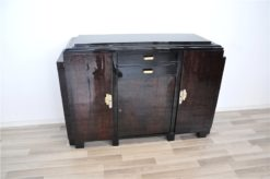 Art Deco, Sideboard, Highboard, Buffet, Pianolacquer, highgloss, refined, restored, beautiful, design, compact, measurements, living room