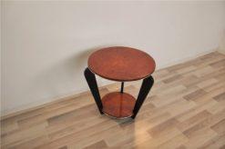 Art Deco, Sidetable, Table, elegant, pianolacquer, legs, highgloss, burlwood, polished, living room, design, furniture, small