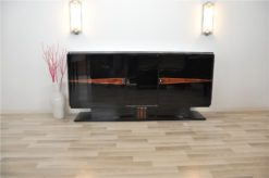 Art Deco, Buffet, floating, sideboard, pianolacquer, ten layers, wood details, living room, design, storage space, unique, france