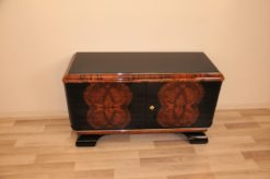 Vintage, Art Deco, Commode, Buffet, Sideboard, Small, ANtique, Restored, Walnut, Burlwood, Pianolacquer, Original, French