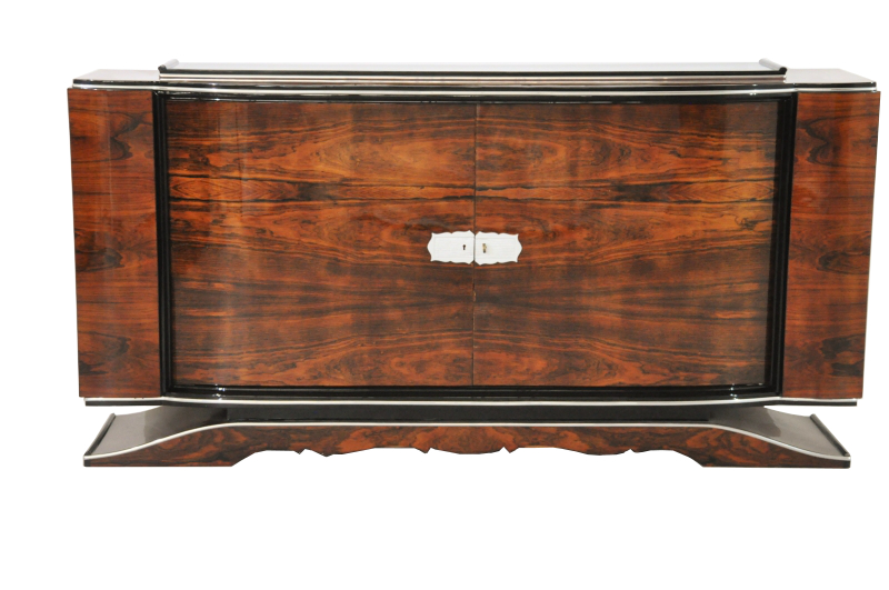 Art Deco  Buffet  Sideboard  Walnut  Vintage  1920s  Antique  Highgloss. French Art Deco Walnut Sideboard from the 1920s   Original Antique