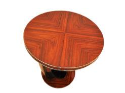 Art Deco, Side Table, Palisander, Original, Veneer, restored, vintage, antique, design, pinaolacquer, living room, highgloss