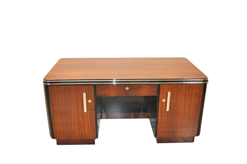 Art Deco Desk Palisander Wood Rosewood Living Room Office Furniture