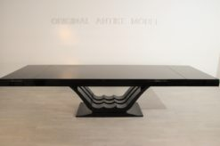 Art Deco, Dining Table, Living Room, large, furniture, design, highgloss, black, high quality, mirror finish, made in germany