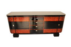 Art Deco, credenza, sideboard, buffet, piano lacquer, high gloss, polished, handmade, storage, living room, design, commode