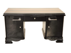 Art Deco, Desk, indian, aplle wood, plain, simple, design, highgloss, applications, polished, restored, office, furniture