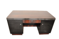Art Deco Desk, Furniture, Office, Palisander, Rosewood, Design, Vintage, ANtique, Pianolacquer, Veneer, high quality, hand polished
