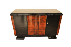 Art Deco, Highgloss, commode, sideboard, curved doors, walnut, veneer, pinaolacquer, mirror finsih, living room, design furniture, storage