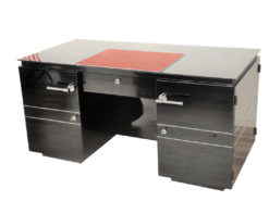 french, art deco, desk, great details, design, shelve, alcantara leather, pianolacquer, chromelines, chrome handles, office furniture