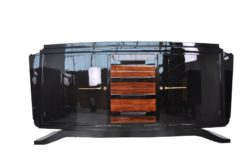Art Deco, Sideboard, Buffet, Credenza, furniture, living room, storage piece, design, antique, restored, beautiful, highgloss, black