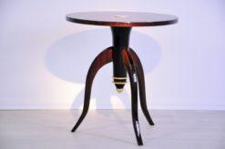 Art Deco, Table, Sidetable, Tripod, Furniture, Design, Pair, Furniture, Living room, elegant, brass, curved legs, france,