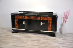 Art Deco, Buffet, Credenza, Sideboard, Burlwood, highgloss, french, storage, space, elegant, body , form, applications, original