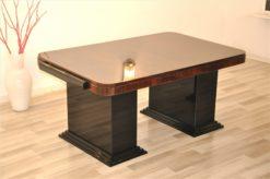 Art Deco, Furniture, Office, Design, Desk, Ladys Desk, Table, Macassar, Top, Elegant, Black, high gloss, hand polished, living room