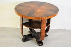 Art Deco, Walnut, Table, Side table, design, furniture, living room, petite, glass plate, curved legs, wood, vintage, restoration