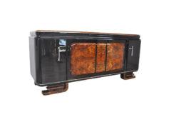 Extra Large, xxl, sideboard, burl, wood, art deco, antique, france, furniture, storage piece, ornamentation, feet, design, luxurious, elegant