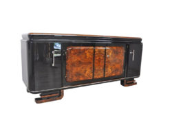 Extra Large, xxl, sideboard, burl, wood, art deco, antique, france, furniture, storage piece, ornamentation, feet, design, luxurious, elegant