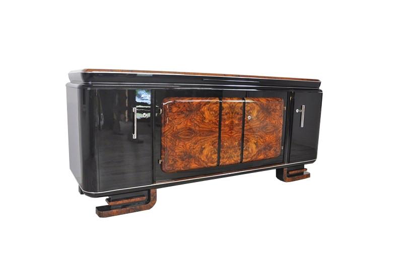 Xxl Burlwood Sideboard From The French Art Deco Era Original