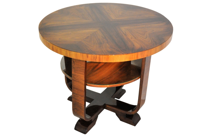 Art Deco, Walnut, Table, Side Table, Design, Furniture, Living Room