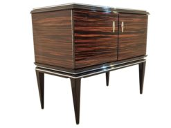 Art Deco, Commode, Chest of drawers, design, macassar, wood, handpolished, living room, storage, luxurious, furniture, feet,